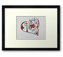 Hearts/14 - Thank you Framed Print