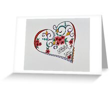 Hearts/14 - Thank you Greeting Card
