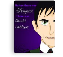 Oswald Cobblepot Artwork Canvas Print