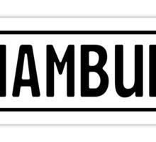 Hamburg Kennzeichen Sticker