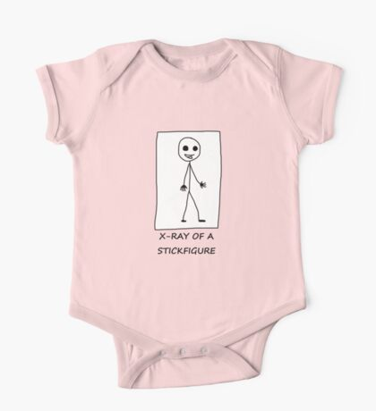 X-ray of a Stick figure One Piece - Short Sleeve