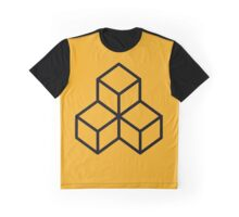 Sunrise Yellow Stacked Cubes Graphic T-Shirt