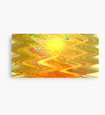 Goldenrod Waves Metal Print