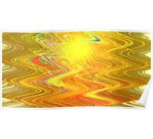Goldenrod Waves Poster