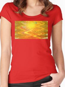 Goldenrod Waves Women's Fitted Scoop T-Shirt