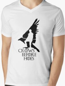 Game of thrones-Crows before hoes Mens V-Neck T-Shirt