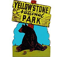 Yellowstone National Park Wyoming Vintage Travel Decal Photographic Print