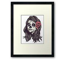 Sugar Skull Bride Framed Print