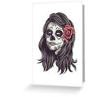 Sugar Skull Bride Greeting Card