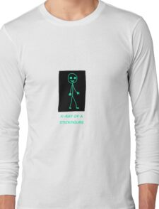 X-ray of a Stick figure Long Sleeve T-Shirt