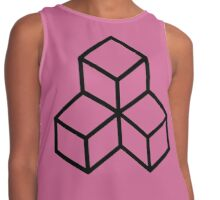 Minimalist Stacked Cubes Sunset Purple Contrast Tank