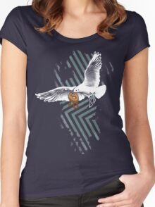 Seagulls Vs. Bagels Women's Fitted Scoop T-Shirt