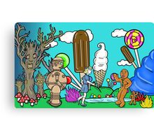 """Dorothy And Tik Tok In Candyland of Oz"" Canvas Print"