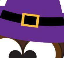 Cute Owl Witch Sticker