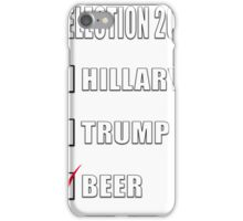 ELECTION 2016 HILLARY TRUMP BEER iPhone Case/Skin