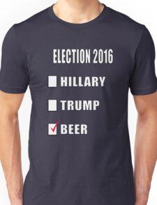 ELECTION 2016 HILLARY TRUMP BEER Unisex T-Shirt