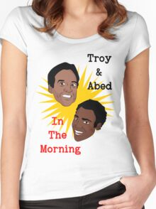 Troy & Abed In The Morning! Women's Fitted Scoop T-Shirt