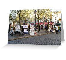 Art Vendors near Montmartre, Paris  Greeting Card