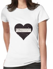 Whisper some silver reply Womens Fitted T-Shirt