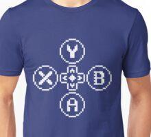 Buttons Quadrilogy - Contrast Design - White Unisex T-Shirt