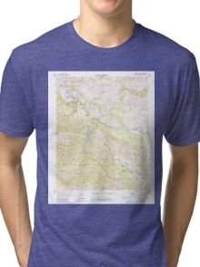 USGS TOPO Map California CA Carmel Valley 288958 1956 24000 geo Tri-blend T-Shirt