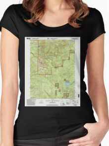 USGS TOPO Map California CA Chalk Mountain 100028 1998 24000 geo Women's Fitted Scoop T-Shirt