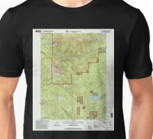 USGS TOPO Map California CA Chalk Mountain 100028 1998 24000 geo Unisex T-Shirt