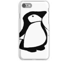 Small Ink Penguin iPhone Case/Skin