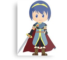 Chibi Marth Vector Metal Print