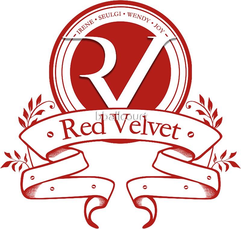 RedVelvetLogoStickersByBballcourtRedbubble