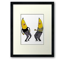 bananas in regular clothing Framed Print