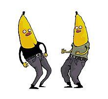 bananas in regular clothing Photographic Print