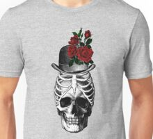 Skull with rib cage hat Unisex T-Shirt