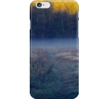 Morning ground fog hovers in hidden valley iPhone Case/Skin