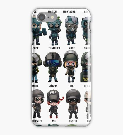 Rainbow Six Siege Chibis iPhone Case/Skin