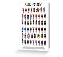 16-Bit Draft Picks Greeting Card