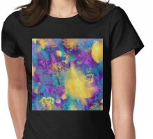 Spring time in Paris, abstract, non objective, abstract expressionism Womens Fitted T-Shirt