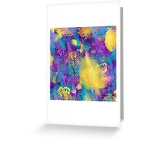 Spring time in Paris, abstract, non objective, abstract expressionism Greeting Card