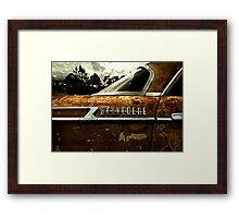 Abandoned 1961 Plymouth Belvedere detail Framed Print
