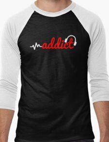 Music Addict 2 Men's Baseball ¾ T-Shirt