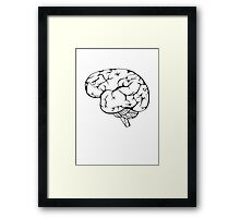 Thinking in black and white Framed Print