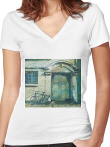 Oxford Bike Women's Fitted V-Neck T-Shirt