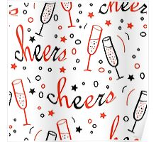 Background with Cheers lettering Poster