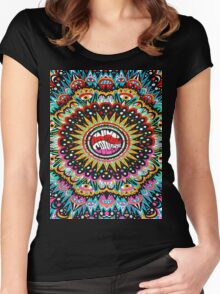 Trippy Animal Collective Women's Fitted Scoop T-Shirt