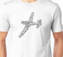 Typographic Mooney M20J Airplane Unisex T-Shirt