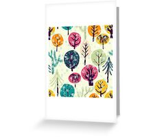 Winter forest seamless pattern. Greeting Card