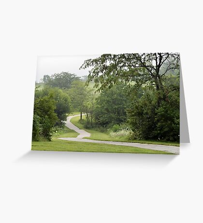 Lightly Foggy Morning Walk Greeting Card