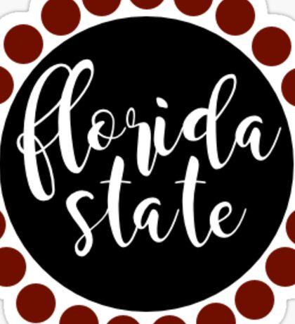 Florida State Circle Sticker