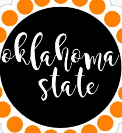 Oklahoma State University Circle Sticker