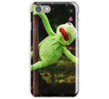 Kermit the frog on a pole iPhone Case/Skin